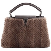 Louis Vuitton Capucines Handbag Fur BB