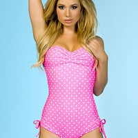 Polka Dot Romper Swimsuit | Sexy Clothes Womens Sexy Dresses Sexy Clubwear Sexy Swimwear | Flirt Catalog