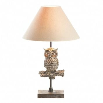 Table Lamp-Perched Owl