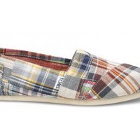 Blue Madras Plaid Women's Classics | TOMS.com