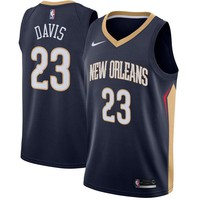 Anthony Davis New Orleans Pelicans # 23 Nike Navy Swingman Icon Edition Jersey - Best Deal Online