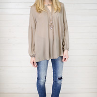 Bell Sleeve Trapeze Top