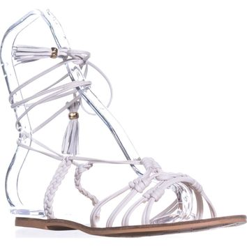 Nanette Lepore June Gladiator Sandals, Ice, 9 US