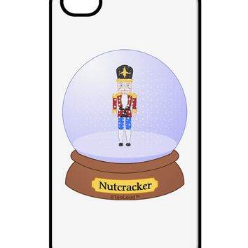 Nutcracker Snow Globe - Red Gold Black iPhone 4 / 4S Case  by TooLoud