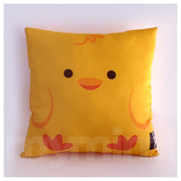 "12 x 12"" Kids Pillow, Yellow Duck, Stuffed Toy, Decorative Pillow, Kids Play Room Decor, Children's Cushion, Kids Throw Pillow"
