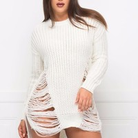Feeling Warm Sweater- Off White