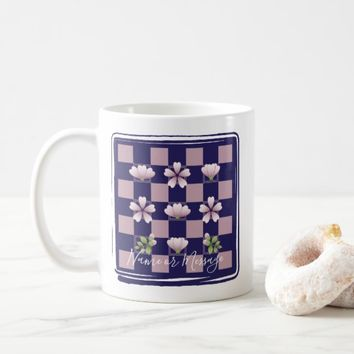 Cherry Blossom - Sakura - Pink Floral Pattern Cute Coffee Mug