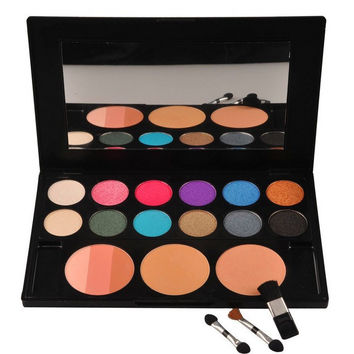 6 Color Eye Shadow Palette with 3 Blush Set
