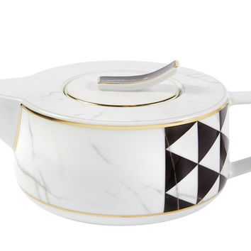 Carrara Marble Chevron Tea Pot