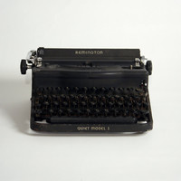 Vintage Typewriter - Remington Quiet Model 1 - Case Included - CYBER Monday Etsy