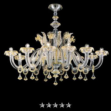 Golden Crystal Grand Murano Chandelier