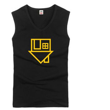The Neighbourhood Letters Print Men Women Tank Top T shirt Casual vest For Man Lady Unisex White Black Gray Tank Hipster Tee