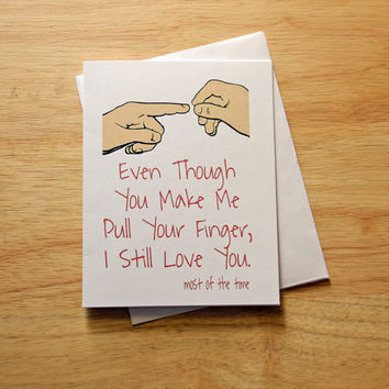 Father's Day Card, Boyfriend Gift, Naughty Card, Farting Card, Funny Card, Adult Humor, Card For Boyfriend, Love Card, Gift For Dad, Mature
