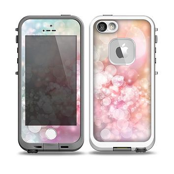 The Unfocused Pink Abstract Lights Skin for the iPhone 5-5s fre LifeProof Case