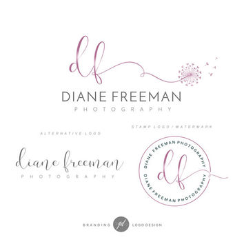 Branding Kit, Photography Kit, Dandelion logo, Flower logo, Photography logo, Blog logo, Watermark, Simple Logo design Branding kit, 39