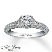 Neil Lane Bridal Ring 5/8 ct tw Diamonds 14K White Gold