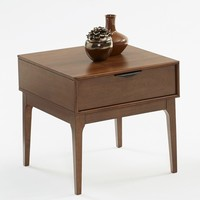 Mid-Mod Transitional End Table Cinnamon
