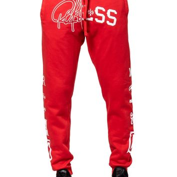 Derailed Sweatpants - Red/White