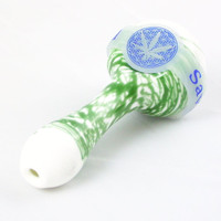Blue Leaf of Life Glass Pipe Bowl Saver(save-a-bowl)