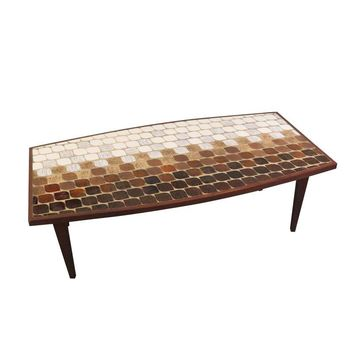 Pre-owned Vintage Mid-Century Tile Top Coffee Table