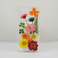 Pressed real flower iphone 6 case, real flower iphone 5 /5c / 4 case