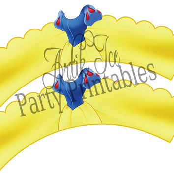 Snow White Cupcake Toppers & Wrappers Birthday Party Set - Instant Download Princess Queen SALE!!