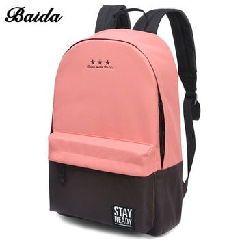 New pastel colors School Backpack for Women & Children
