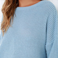 Island Ferry Light Blue Sweater