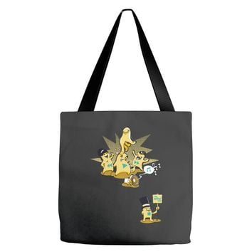 playing with monsters Tote Bags