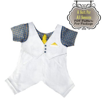 Dog Clothes Pattern To Sew Boy's 3 Pc. Suit PDF All Sizes