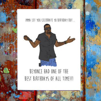 Kanye West Happy Birthday Card Taylor Swift VMA MTV
