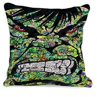 Hulk Face Angry Colage Heroes Movies Pillow Case (16 x 16 one side)