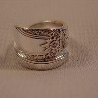 A Spoon Rings Plus Pretty Spoon Ring Size 8 First Love Pattern Vintage Spoon and Fork Jewelry t347