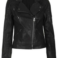 Faux Leather Biker Jacket - New In This Week  - New In