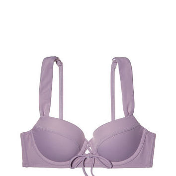 Lace-Up Push-Up Midline - PINK - Victoria's Secret