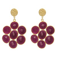 Mosaic Red Rubilite Earrings