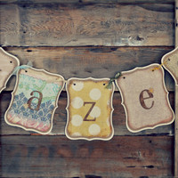 Adorable Personalized Shabby Chic Banner for your little girl
