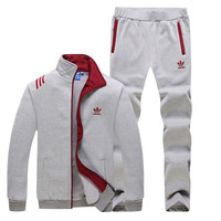 Trendsetter ADIDAS Women Men Lover Cardigan Jacket Coat Pants Trousers Set Two-Piece