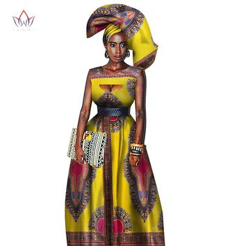 Traditional African Women Clothing African Print Wax Custom Long Dresses