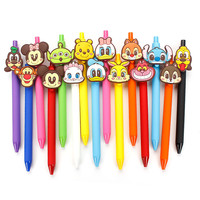 Kawaii Stitch Gel Pen PVC 0.5mm Black Cheshire Daisy Pens Candy Colored Stabilo Escritorio Stationery Store School Supplies