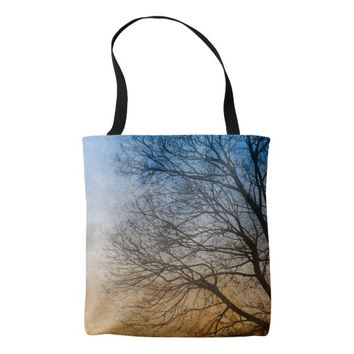 Vignette Tree Branches Tote Bag