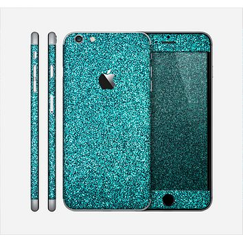 The Teal Glitter Ultra Metallic Skin for the Apple iPhone 6 Plus