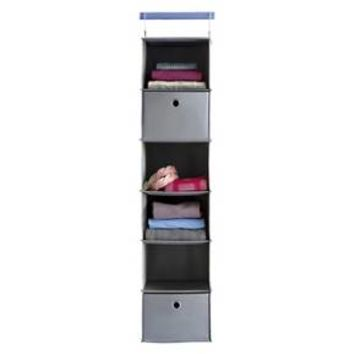 6-Shelf Hanging Closet Organizer Gray - Room Essentials™ : Target