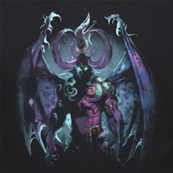 WoW Illidan Metamorphosis Stripe Sleeve Tee - Exclusive