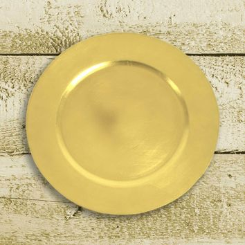 Amiltola Charger Plate in Chartreuse | Set of 4