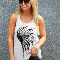 The Chief Tank {Heather Gray}