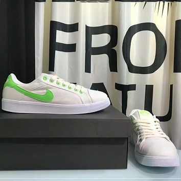 NIKE AIR JORDAN Jordan's first year low canvas shoes for men and women F-AHXF White+green hook
