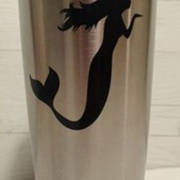 Floating Mermaid Blowing Kisses Yeti Decal, Yeti Rambler Decal, Yeti Tumbler Decal, Ozark Tumbler Decal, Wall Vinyl Decal, Ozark Trail Decal, RTIC