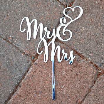 MRS MRS WEDDING Cake Topper Customized Wedding Cake Topper, Personalized Cake Topper for Wedding, Custom Personalized Wedding Cake Topper