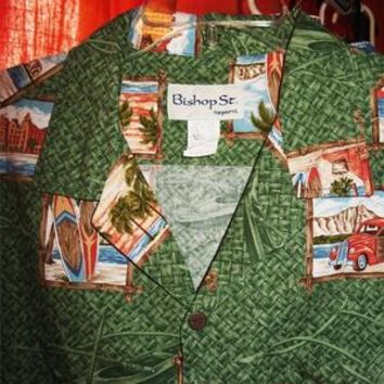 BISHOP ST APPAREL HAWAIIAN SHIRTS VINTAGE  CASUAL!SIZE XL!MADE IN USA